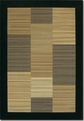 Hamptons Multi Stripe/Black 0766/0601 Everest Area Rug by Couristan