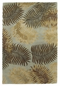 Havana 2612 Aqua Fern View Area Rug by Kas