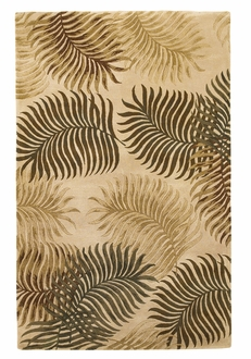 Havana 2622 Natural Fern View Area Rug by Kas