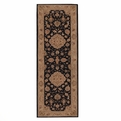 Heritage Hall HE10 Black Hand Tufted New Zealand Wool Nourison Rugs