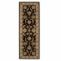 Heritage Hall HE19 Black Hand Tufted New Zealand Wool Nourison Rugs