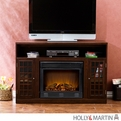 Holly & Martin Akita Espresso Media Electric Fireplace