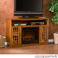 Holly & Martin Akita Glazed Pine Media Electric Fireplace