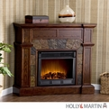 Holly & Martin Cypress Espresso Electric Fireplace