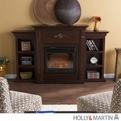 Holly & Martin Fredricksburg Espresso Electric Fireplace with Bookcases