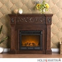 Holly & Martin Huntington Espresso Electric Fireplace