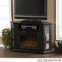 Holly & Martin Ponoma Black Convertible Media Electric Fireplace