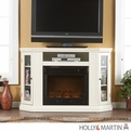 Holly & Martin Ponoma Ivory Convertible Media Electric Fireplace