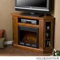 Holly & Martin Ponoma Mahogany Convertible Media Electric Fireplace