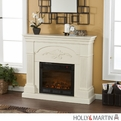 Holly & Martin Salerno Ivory Electric Fireplace