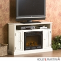 Holly & Martin Savannah Antique White Media Electric Fireplace