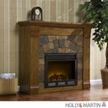 Holly & Martin Underwood Antique Oak Electric Fireplace