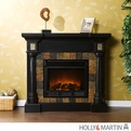 Holly & Martin Weatherford Convertible Black Electric Fireplace