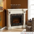 Holly & Martin Weatherford Convertible Ivory Electric Fireplace