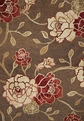 Horizon 5703 Mocha Flora Outdoor Rug by Kas