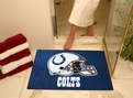 Indianapolis Colts Allstar Mats Machine Washable 100% Nylon with Non-Skid Backing