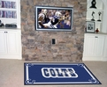 Indianapolis Colts Area Rug Machine Made 100% Nylon with Non-Skid Backing