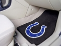 Indianapolis Colts Carpet Car Mats Machine Washable 100% Nylon with Non-Skid Set of 2