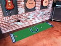 Indianapolis Colts Putting Green Machine Washable 100% Nylon with Non-Skid Backing