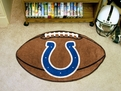 Indianapolis Colts Round Football Rug Machine Washable 100% Nylon with Non-Skid Backing