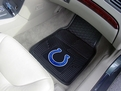 Indianapolis Colts Vinyl Car Mats 100% Vinyl Faced with Non-Skid- Backing Set of 2