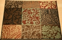 Inspired Design Paisley Block 14440 Multi Custom Runner