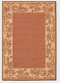 Island Retreat TerraCotta Nautral 1222/1122 Recife Outdoor Area Rug by Couristan