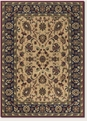 Ispaghan Cream Navy Floral Anatolia Area Rug by Couristan