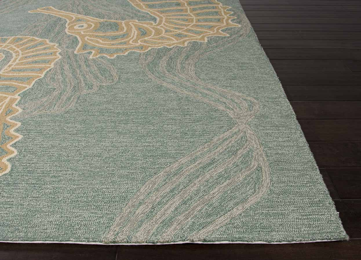 Jaipur Coastal Living Ci24 Sea Horsing Around Area Rug