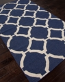 Jaipur Maroc MR44 Rafi Deep Navy Antique White Area Rug