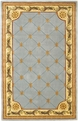 Jewel Fleur De Lis 305 Wedgewood / Blue Area Rug by Kas