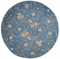 Julian Round JL33 LTB Lt Blue Area Rug by Nourison