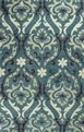 Kas Anise 2411 Teal Damask Area Rug
