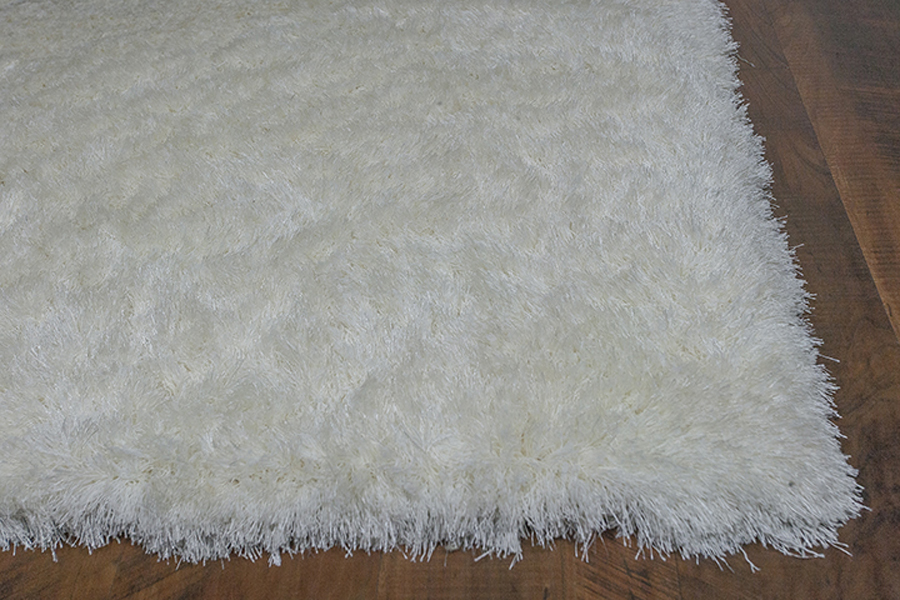 Kas Fina 0550 Ivory Silky Shag Rug Fina Collection By