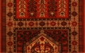 Kashimar Antique Nain 7886/1945a Burgundy Carpet Stair Runner