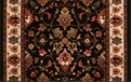 Kashimar Floral Herati 0600/3220a Black Teal Carpet Stair Runner