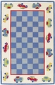 Kidding Around 426 Cars Blue Ivory Rug by Kas