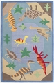 Kidding Around 427 Dinosaur Fun Blue Area Rug by Kas
