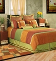Kinston <br>BT-640 <br>Orange / Rust <br>Poly Slub <br>100% Polyester <br>Made in India <br>Home Texco Bedding