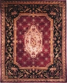 Le Palais PS-501 Plum Black Area Rug by Kalaty