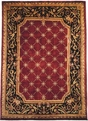 Le Palais PS-521 Plum Black Area Rug by Kalaty