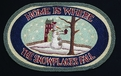 Licensed Art 697 Home is Where the Snowflakes Fall 100% Jute Earth Rugs