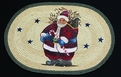 Licensed Art 709 Santa Candy Cane Earth Rugs
