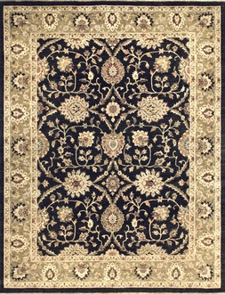Majestic MM-01 Black Ivory Rug by Loloi