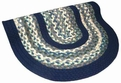 Minuteman 1888-58 Blue Green Braided Area Rug by Thorndike Mills