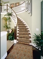 Modern Damask MD-01 Ivory Carpet Stair Runner
