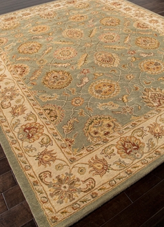 Mythos Callisto MY06 Sea Green / Light Gold Area Rug by Jaipur