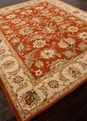 Mythos Selene MY04 Red Oxide / Sand Area Rug by Jaipur