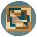 New Wave Contempo NW-06 Blue Rug by Momeni