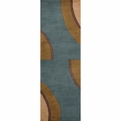 New Wave <br>NW-80 Teal <br>Hand Tufted <br>Hand Carved <br>100% Wool<br>Momeni Rugs